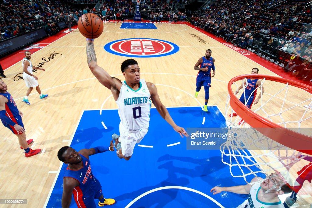 Charlotte Hornets v Detroit Pistons : News Photo