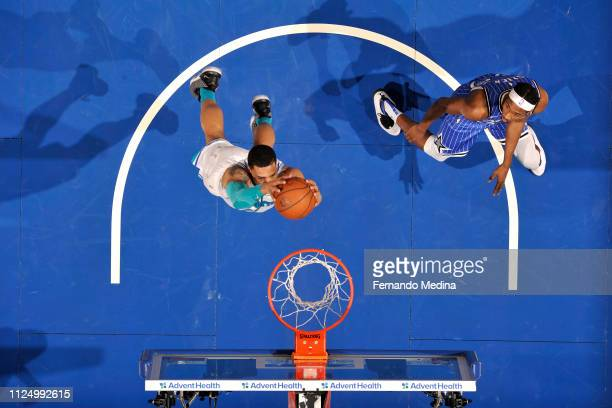 Miles Bridges of the Charlotte Hornets dunks the ball against the Orlando Magic on February 14 2019 at Amway Center in Orlando Florida NOTE TO USER...