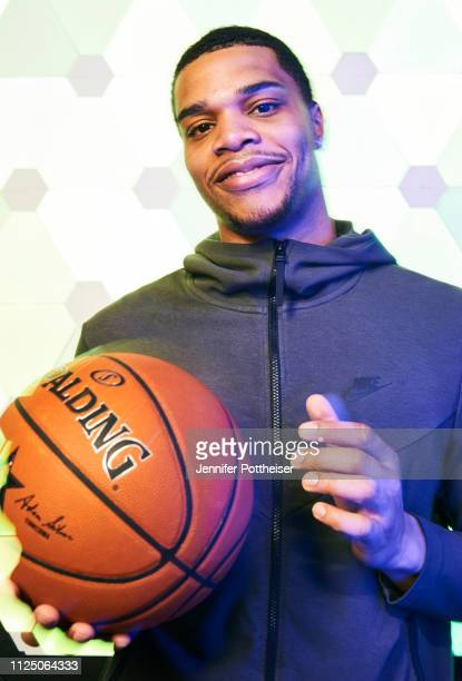 Miles Bridges of the Charlotte Hornets poses for a portrait during the 2019 NBA AllStar circuit on February 15 2019 at the Sheraton Hotel in...