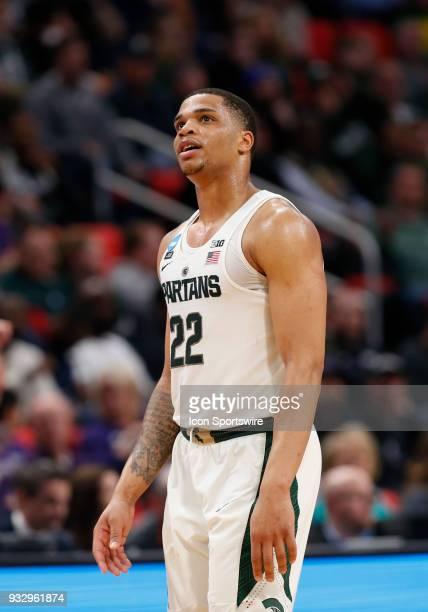 Miles Bridges of the Michigan State Spartans during the NCAA Division I Men's Basketball Championship First Round game between the Michigan State...
