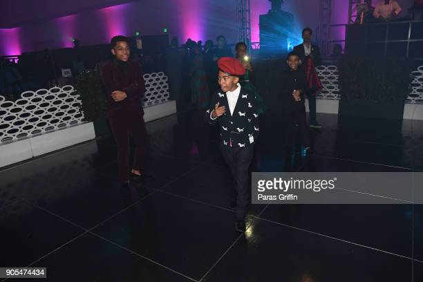 Miles Brown and Lonnie Chavis attend 49th NAACP Image Awards After Party at Pasadena Civic Auditorium on January 15 2018 in Pasadena California