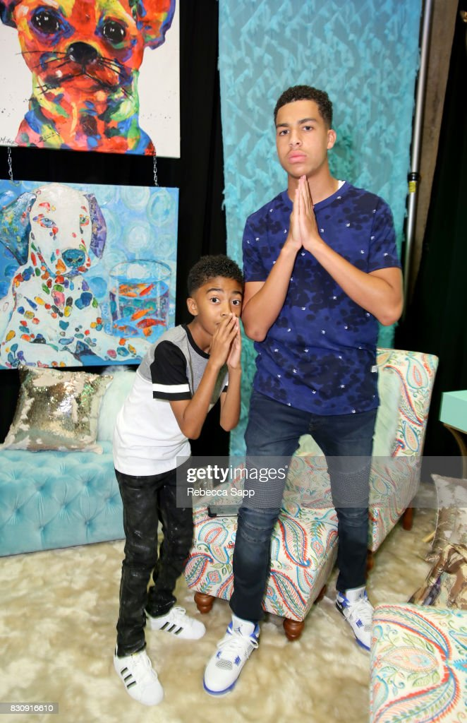 Miles Brown and Marcus Scribner at Backstage Creations Celebrity Retreat at Teen Choice 2017 - Day 1 at Galen Center on August 12, 2017 in Los Angeles, California.