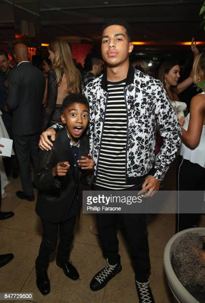 Miles Brown and Marcus Scribner attend the 2017 Entertainment Weekly PreEmmy Party at Sunset Tower on September 15 2017 in West Hollywood California