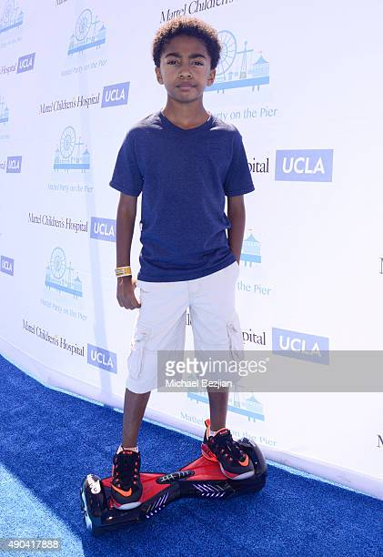 Miles Brown arrives at Mattel Children's Hospital UCLA 16th Annual Party On The Pier Fundraiser at Santa Monica Pier on September 27 2015 in Santa...