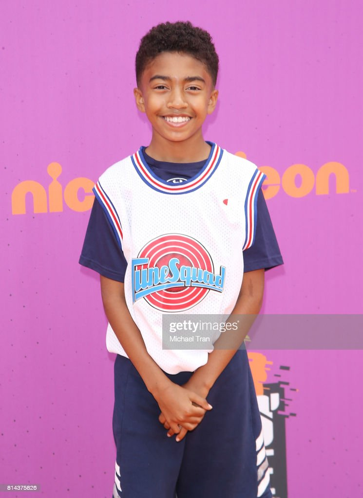 Miles Brown arrives at Nickelodeon Kids' Choice Sports Awards 2017 held at Pauley Pavilion on July 13, 2017 in Los Angeles, California.