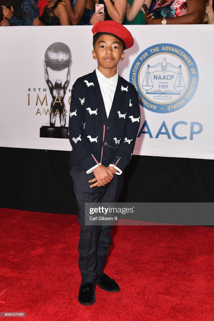 Miles Brown at the 49th NAACP Image Awards on January 15, 2018 in Pasadena, California.