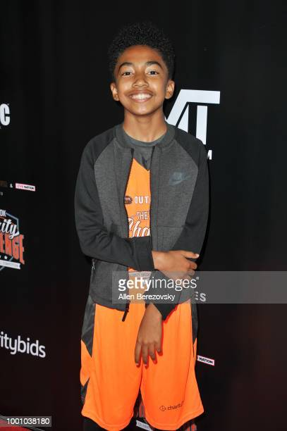 Miles Brown attends Monster Energy Outbreak $50K Charity Challenge celebrity basketball game at UCLA on July 17 2018 in Los Angeles California