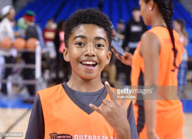 Miles Brown attends Monster Energy Outbreak Presents $50K Charity Challenge Celebrity Basketball Game at UCLA's Pauley Pavilion on July 17 2018 in...