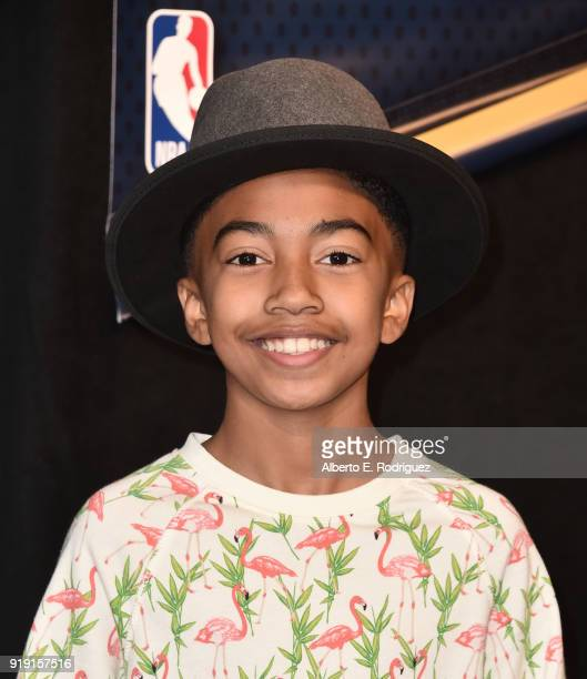 Miles Brown attends the NBA AllStar Celebrity Game 2018 at Verizon Up Arena at LACC on February 16 2018 in Los Angeles California