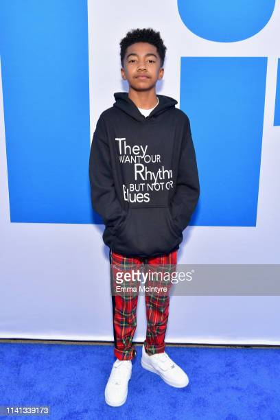 Miles Brown attends the premiere of Universal Pictures Little at Regency Village Theatre on April 08 2019 in Westwood California