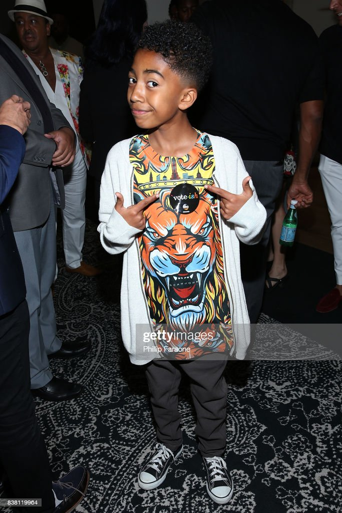Miles Brown attends the UTA celebrates Anthony Anderson on his Emmy nomination for his work on 'Black-ish' at UTA on August 23, 2017 in Beverly Hills, California.