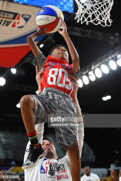 Miles Brown plays during the 2018 NBA AllStar Game Celebrity Game at Los Angeles Convention Center on February 16 2018 in Los Angeles California