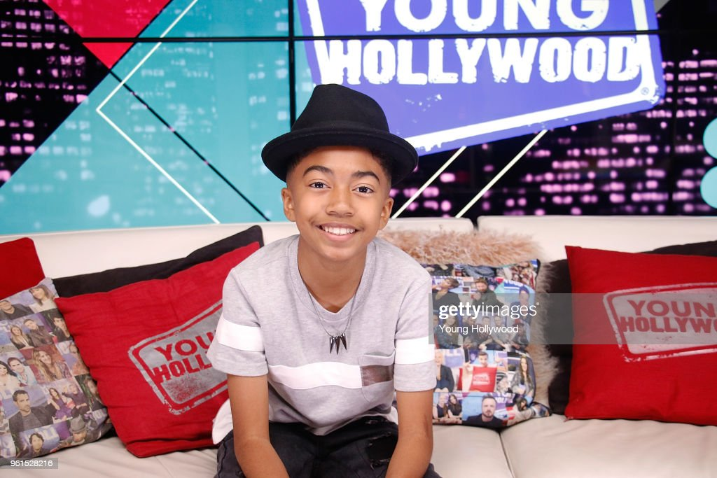 Miles Brown Visits Young Hollywood Studio