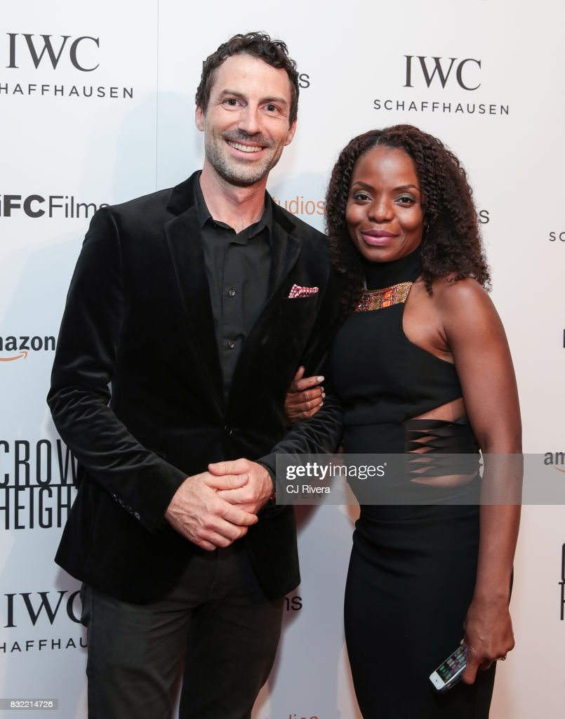 Miles Crawford and Marsha Stephanie Blake attend the New York premiere of 'Crown Heights' at The Metrograph on August 15, 2017 in New York City.