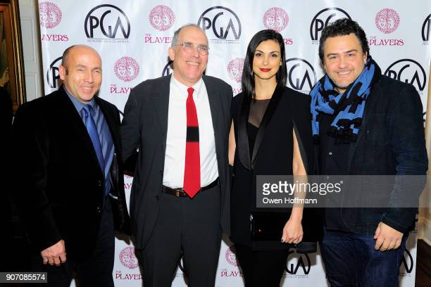 J Miles Dale William Horberg Morena Baccarin and Leopoldo Gout attend The Players Hosts East Coast Celebration of the 2018 Producers Guild Nominees...