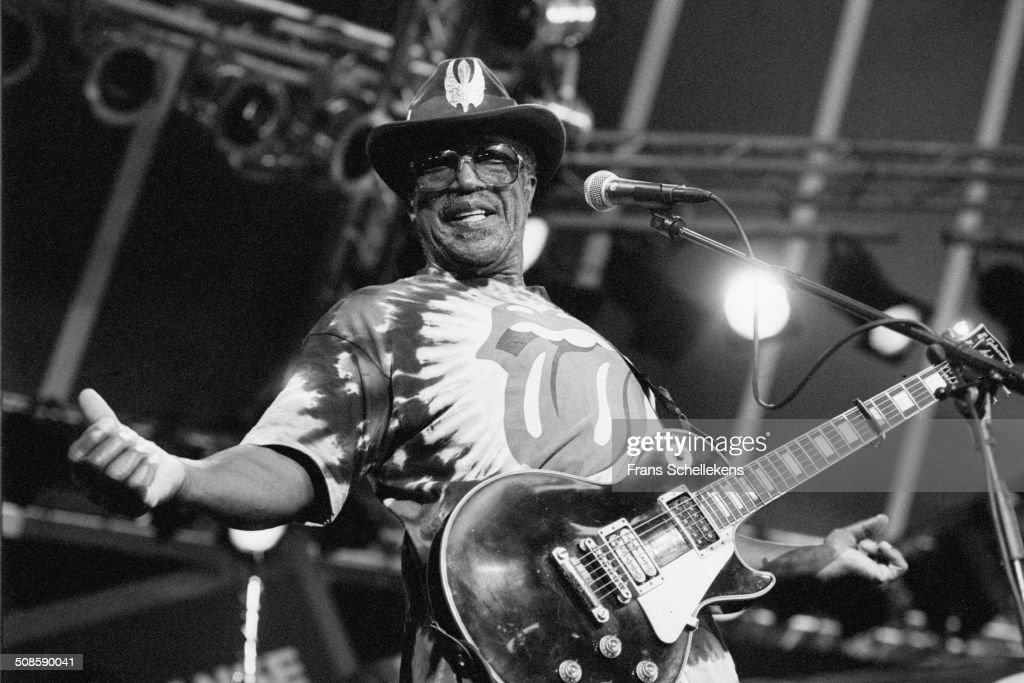 Miles Davis at the North Sea Jazz Festival in the Hague, Netherlands on 16th July 1995.