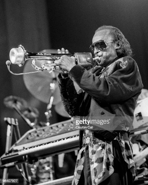 Miles Davis performing at the Greek Theater in Berkeley California on September 1 1985