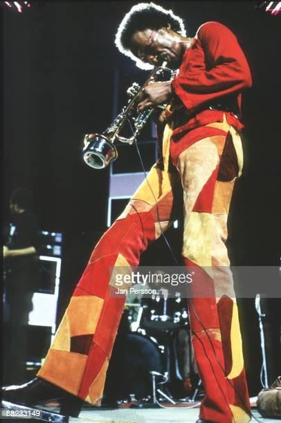 Miles Davis performing on stage in Copenhagen on October 29 1973