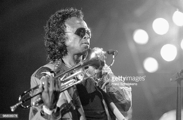 Miles Davis performs live on stage at the North Sea Jazz Festival in the Hague, Holland on July 09 1989