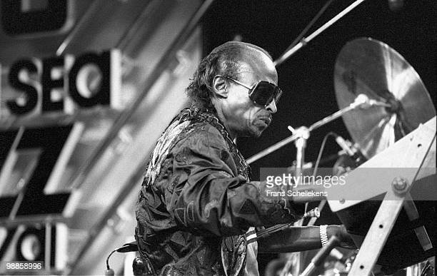 Miles Davis performs live on stage at the North Sea Jazz Festival in the Hague, Holland on July 12 1985