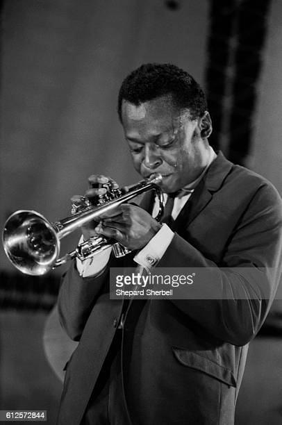 Miles Davis playing the Randall's Island Jazz Festival in New York