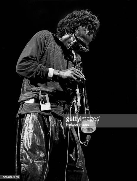 Miles Davis Royal Festival Hall London 1989 American jazz musician trumpeter bandleader and composer He was at the forefront of several major...