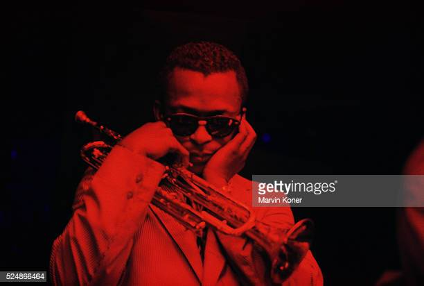Miles Davis with Finger in Ear
