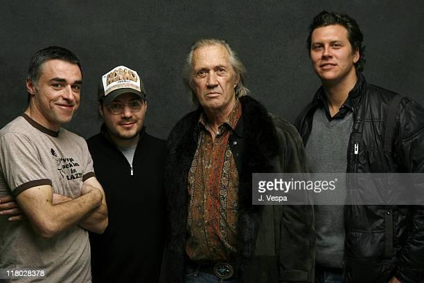 Miles Dougal Adam Rifkin David Carradine and Hayes MacArthur