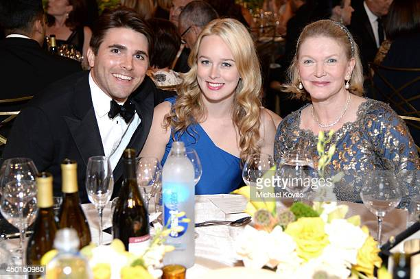 Miles Fisher Lucy Blodgett and AFI Director Nancy Fisher attend the 2014 AFI Life Achievement Award A Tribute to Jane Fonda at the Dolby Theatre on...