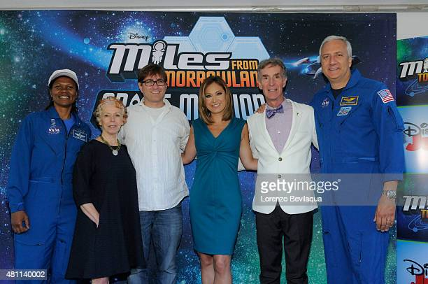 EVENT Miles from Tomorrowland voice actors Adrian Grenier and Bill Nye NASA astronauts Dr Mike Massimino and Dr Yvonne Cagle and Good Morning America...