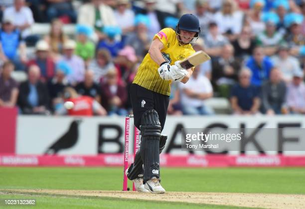 Miles Hammond of Gloucestershire bats during the Vitality Blast QuarterFinal match between Worcestershire Rapids and Gloucestershire at New Road on...