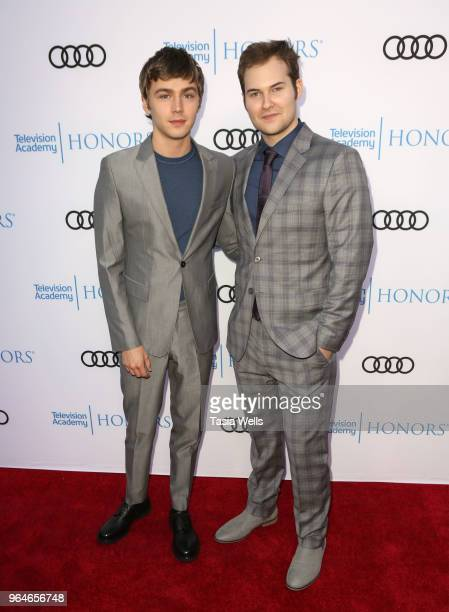 Miles Heizer and Justin Prentice attend the 11th Annual Television Academy Honors at NeueHouse Hollywood on May 31 2018 in Los Angeles California