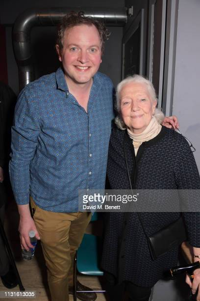 Miles Jupp and Audrey Freeman attend the press night after party for 'The Life I Lead' at The Park Theatre on March 19 2019 in London England