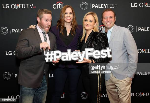 Miles Kahn Alison Camillo Samantha Bee and Pat King attend PaleyFest NY 2017 'Full Frontal With Samantha Bee' at The Paley Center for Media on...
