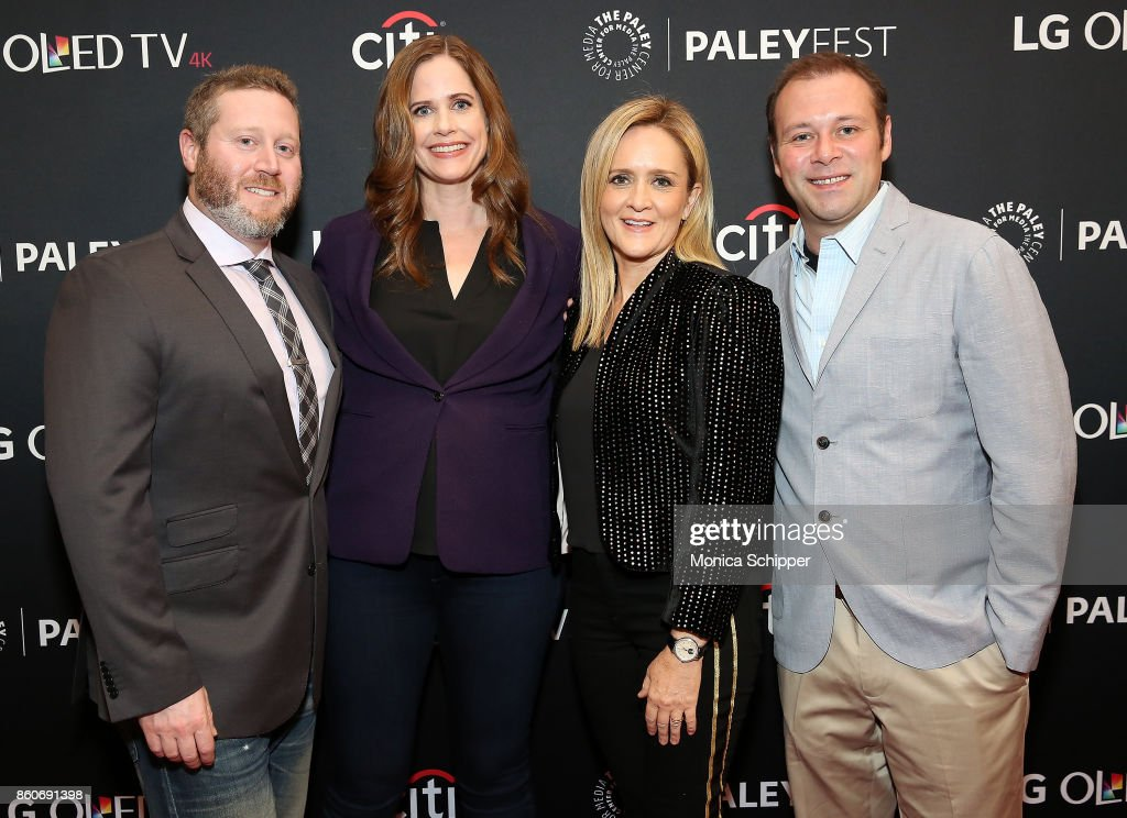 Miles Kahn, Alison Camillo, Samantha Bee and Pat King attend PaleyFest NY 2017 - 'Full Frontal With Samantha Bee' at The Paley Center for Media on October 12, 2017 in New York City.