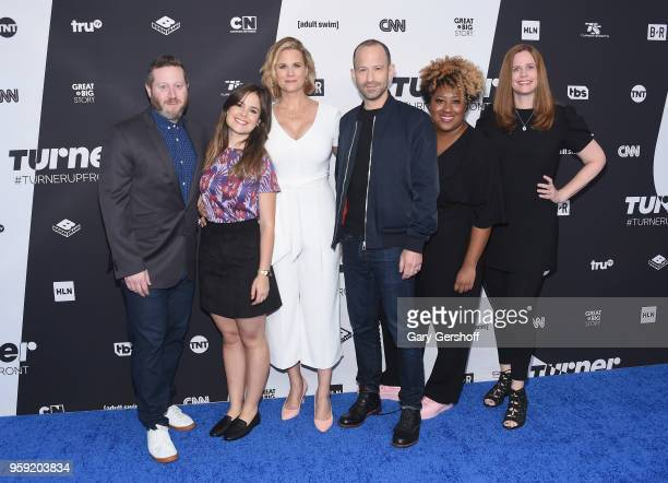 Miles Kahn Amy Hogart Allana Harkin' Mike Rubens Ashley Nicole Black and Alison Camillo attend the 2018 #TurnerUpfront at One Penn Plaza on May 16...