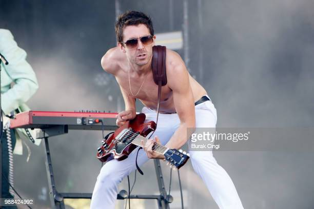 Miles Kane performs at the Queens of the Stone Age and Friends show at Finsbury Park on June 30 2018 in London England