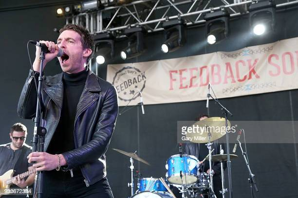 Miles Kane performs in concert with Dr Pepper's Jaded Hearts Club Band during South By Southwest at The Feedback House on March 15 2018 in Austin...