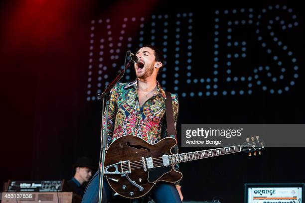 Miles Kane performs on stage at Kendal Calling Festival at Lowther Deer Park on August 3 2014 in Kendal United Kingdom