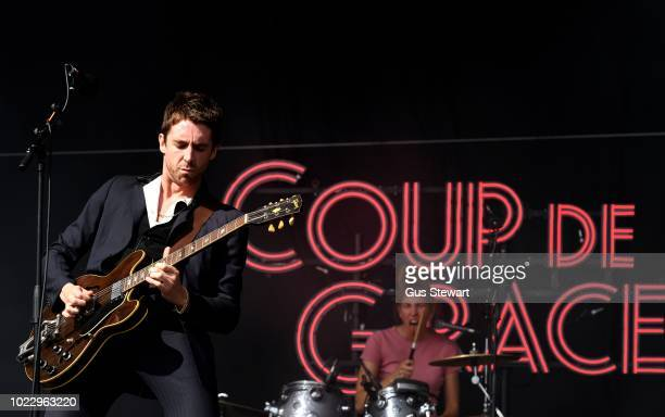 Miles Kane performs on the main stage at RiZE Festival on August 17 2018 in Chelmsford United Kingdom