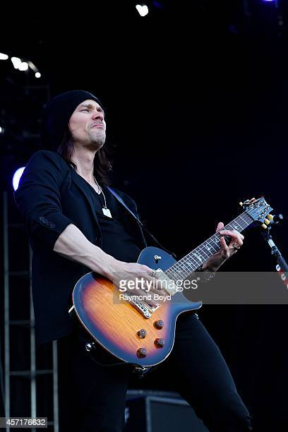 Miles Kennedy from Alter Bridge performs during the Louder Than Life Music Festival in Champions Park on October 04 2014 in Louisville Kentucky