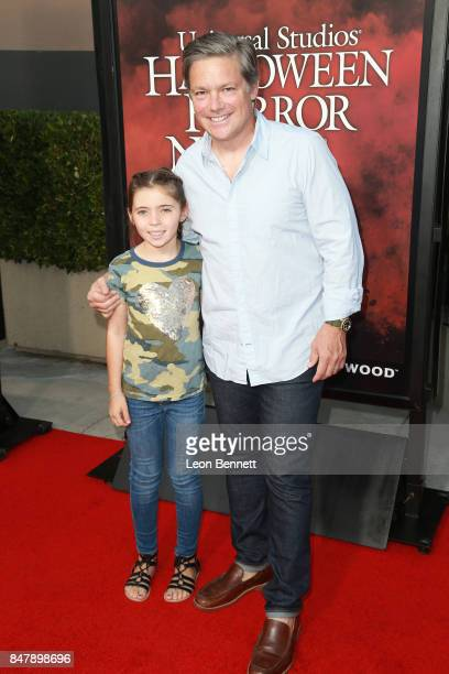 Miles Koules and actor Oren Koules attends Universal Studios Halloween Horror Nights Opening Night Arrivals at Universal Studios Hollywood on...