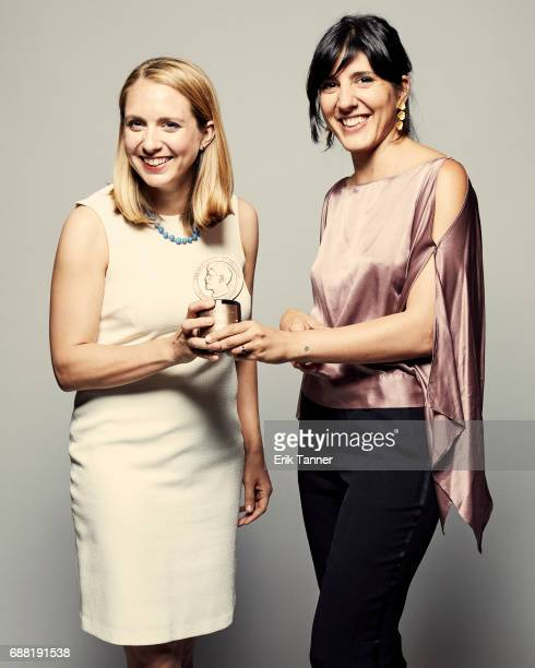 41 Miles Lindsay Crouse and Daphne Matziaraki are photographed at the 76th Annual Peabody Awards at Cipriani Wall Street on May 20 2017 in New York...