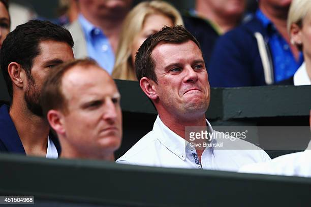 Miles Maclagan in the crowd to watch Andy Murray during his Gentlemen's Singles fourth round match against Kevin Anderson of South Africa on day...