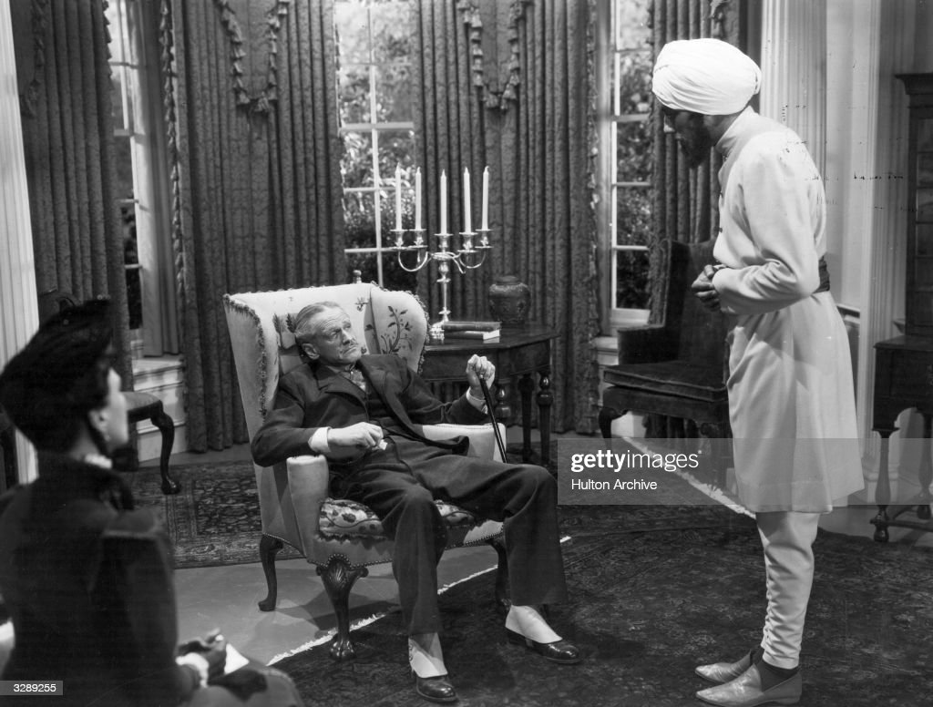 Miles Mander Talks To His Indian Servant In The Film The Little News Photo Getty Images