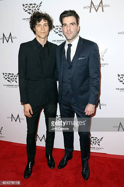 Miles McMillan and actor Zachary Quinto attends The Humane Society of the United States Hosts Annual To The Rescue New York Saving Animal Lives at...