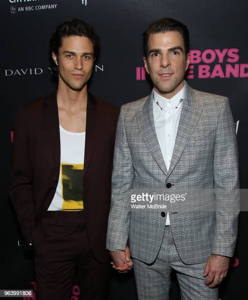 Miles McMillan and Zachary Quinto attend the 'The Boys In The Band' 50th Anniversary Celebration at The Second Floor NYC on May 30 2018 in New York...