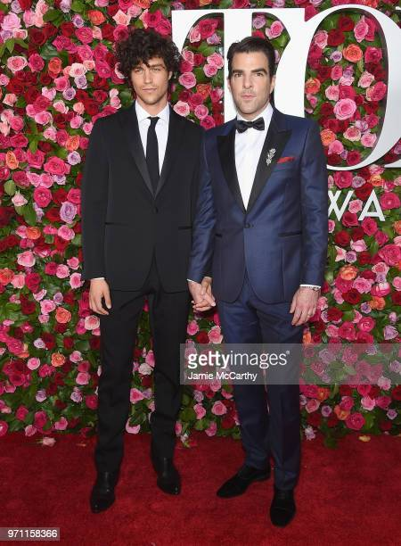 Miles McMillan and Zachary Quinto attends the 72nd Annual Tony Awards at Radio City Music Hall on June 10 2018 in New York City