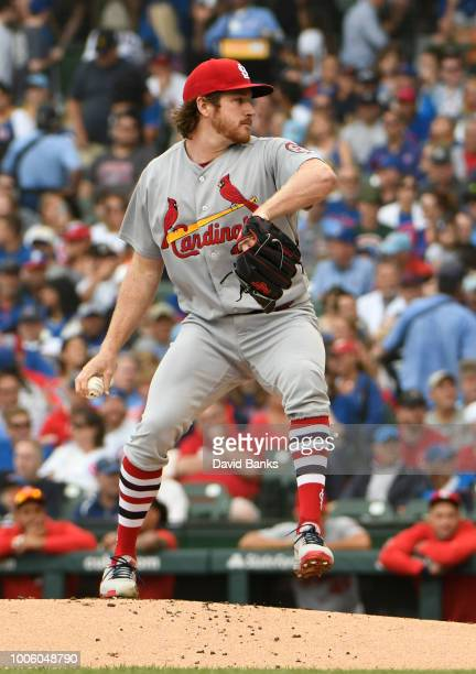 Miles Mikolas of the St Louis Cardinals pitches against the Chicago Cubs on July 22 2018 at Wrigley Field in Chicago Illinois The Cubs won 72