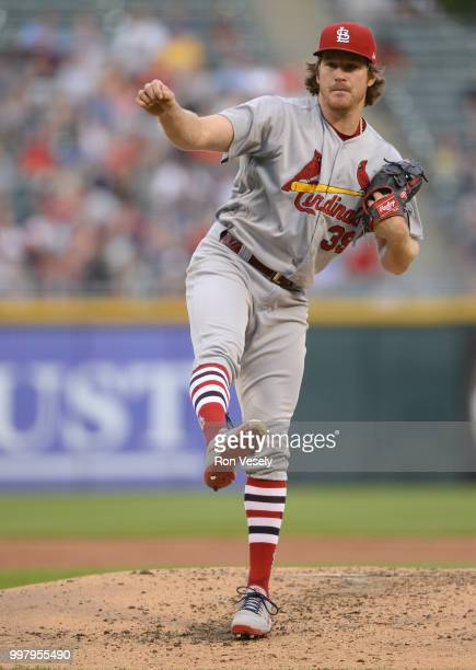 Miles Mikolas of the St Louis Cardinals pitches against the Chicago White Sox on July 10 2018 at Guaranteed Rate Field in Chicago Illinois